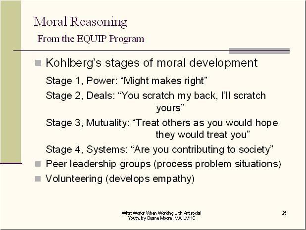 Moral Reasoning Conduct Disorder CEUs