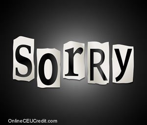 apologize  How to Build Self Esteem psychology continuing ed
